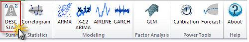 Descriptive Statistics Toolbar