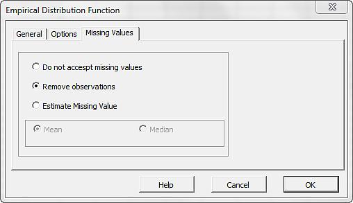 EDF Wizard Missing Values